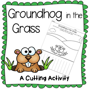 FREE Groundhog Hiding In The Grass ~ A Printable Coloring and Cutting Page
