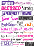 Printable DESTINY Board, Vision Board Kit printable quotes
