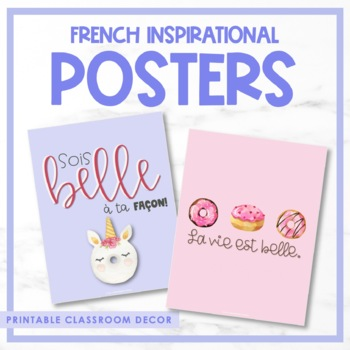 French Growth Mindset Posters - Les affiches inspiratrices