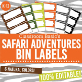 Safari Adventures Printable Bin Labels (Editable!)