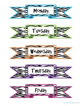 Printable Day of the Week Labels