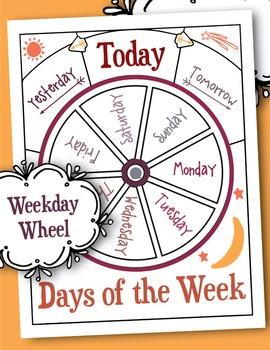 Printable Days of the Week Wheel