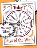 Days of the Week Wheel Circle Time Chart