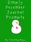 Printable December Journal Prompts