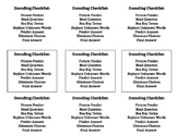Printable Decoding Checklists