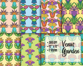 "Printable Decorative Papers, Venus Garden!, 7, 12 x 12"" High Resolution  PDF"