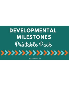 Printable Developmental Milestones Handout Pack