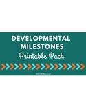 Printable Developmental Milestones Handout Pack