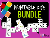 Printable Dice Bundle Action Dots Color 6 Sided