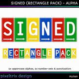 Printable Clip Art *SIGNED - RECTANGLE MEGA PACK* Arrow Si