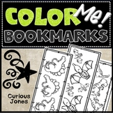 Bookmarks to Color: Dinosaur