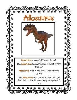 Printable Dinosaur Fact Sheets