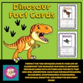 Printable Dinosaur Fact Sheets