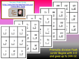 Printable Division Flash Cards