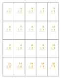 Printable Division Flashcards Numbers 1 - 10