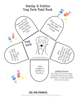 Printable Dog Facts Petal Book: Activity for the Stanley & Katrina books