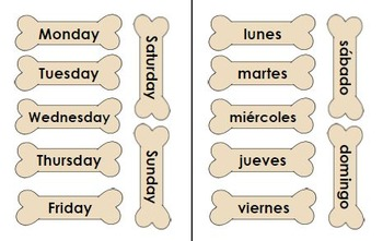 Printable Dog-Themed Calendar Set in English & Spanish