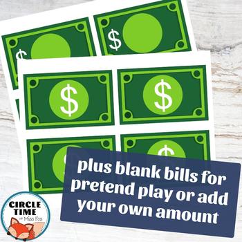 Printable Dollar Bills, Classroom Bucks, Printable Play Money, Reward Money