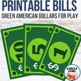Printable Dollar Bills, Classroom Bucks, Printable Play Mo