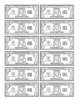 printable dollars by the whirled p 39 s teachers pay teachers. Black Bedroom Furniture Sets. Home Design Ideas
