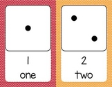 Printable Domino Number Flashcards from 1 to 10 - Mini Star Theme