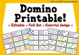 Printable Dominoes (Colourful Design) | Simple Design | PPT and PDF format