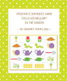 Printable Dominoes Game - Target Vocabulary: In the Garden {FREEBIE}