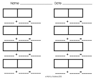Printable Dominos and Addition Template