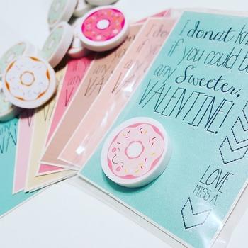 Printable Donut Valentines for Valentine's Day