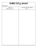 Printable Double Entry Journal - FREE