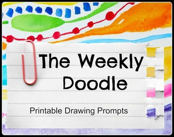 Printable Drawing Prompts for Art Centers