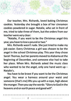 Printable ESL Book: Christmas Angel (5th-6th grade)