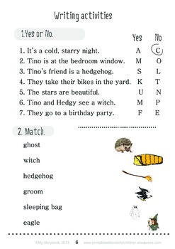 Printable ESL Book: Funny Night (1st-2nd grade)