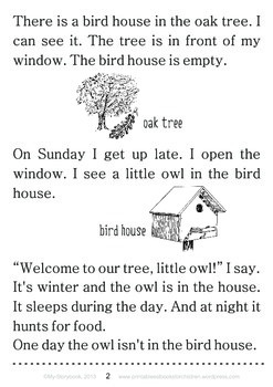 Printable ESL Book: Home For Two (1st-2nd grade)