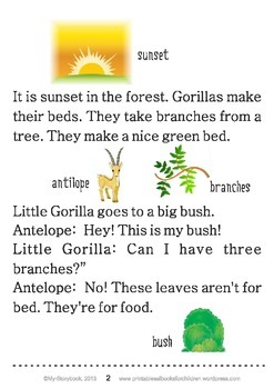 Printable ESL Book: Little Gorilla (1st-2nd grade)