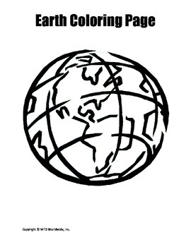 Printable Earth Coloring Book Pages