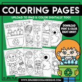 Printable Earth Day Coloring Pages {Zip-A-Dee-Doo-Dah Designs}
