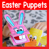 Printable Easter Bunny and Chick Puppets Template - Craft