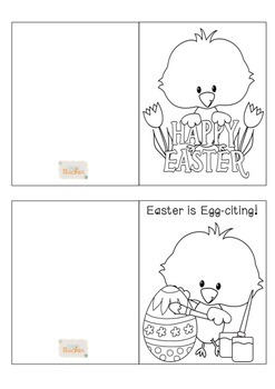 photo about Easter Cards Printable named Printable Easter Playing cards Coloration and Black and White for Lecturers and Pupils K-3