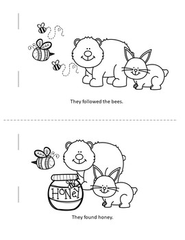 Printable Easy Reader Bear and Bunny