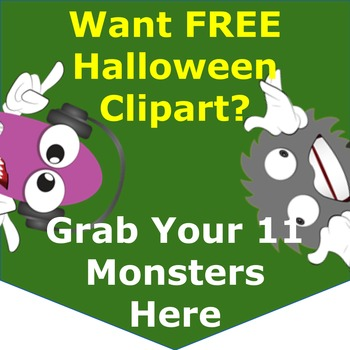 Free Clipart Printables/Worksheets  - 11 Funny Halloween Monsters