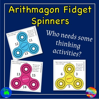 Printable Elementary Math Activities Triangular Math Puzzles on Fidget Spinners