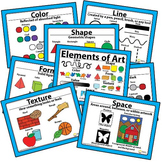 Printable Elements of Art Posters Art Classroom Visuals Posters