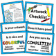 Elements of Art, Principles of Design, Artwork Checklist Poster Printable Bundle