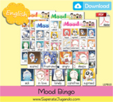 Printable English Mood Bingo - Loteria de Estados de Animo