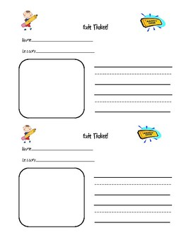 printable exit ticket forms by ankerman educational resources tpt