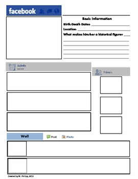 photo regarding Printable Facebook Template identified as Printable Fb Template