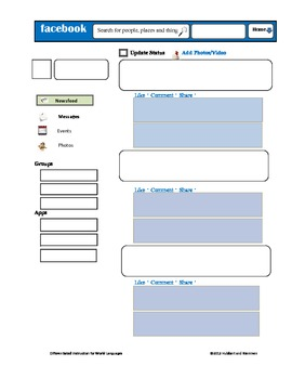 image relating to Printable Facebook Template identified as Printable Fb Template