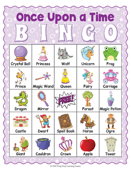 picture relating to Printable Fairy Tale called Printable Fairy Story BINGO Recreation