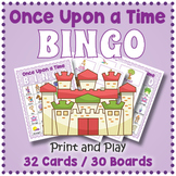 Fairy Tale Themed Party Game BINGO & Memory Matching Card Game
